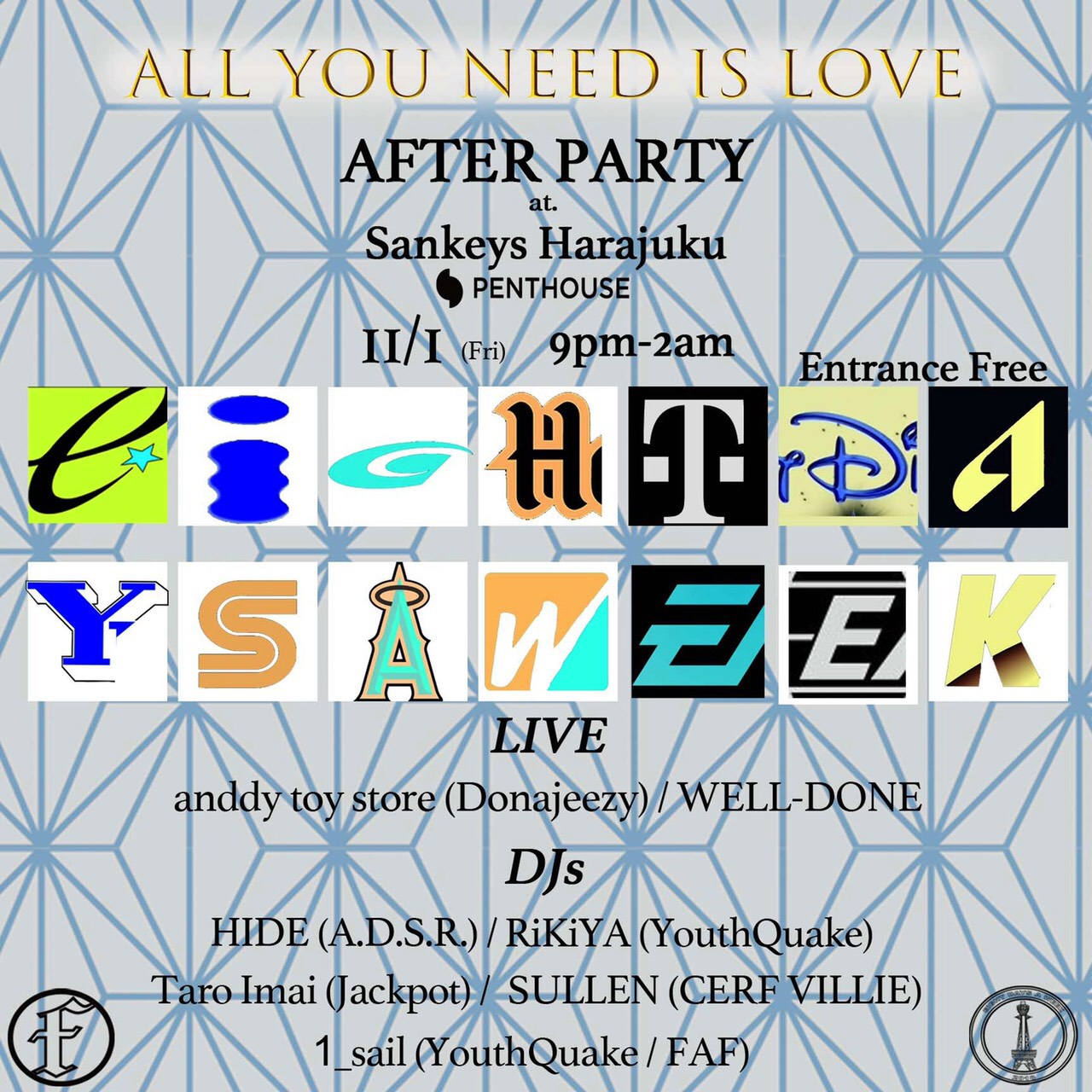 ALL YOU NEED IS LOVE AFTER PARTY