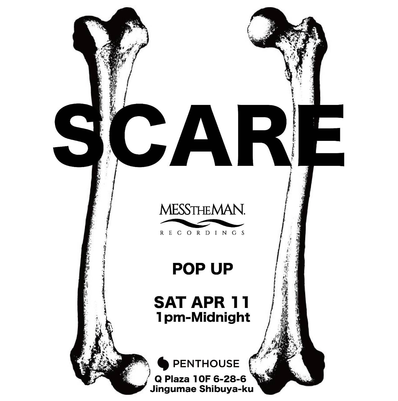 SCARE -MESS THE MAN RECORDINGS POP UP-