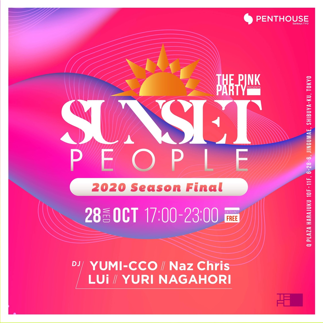 THE PINK PARTY PRESENTS SUNSET PEOPLE
